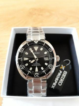 🙏SEIKO PROSPEX BABY TURTLE black with steel Made in Japan