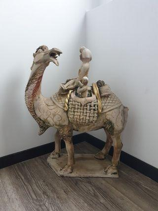 unglazed sui tang camel terracotta clay chinese antique