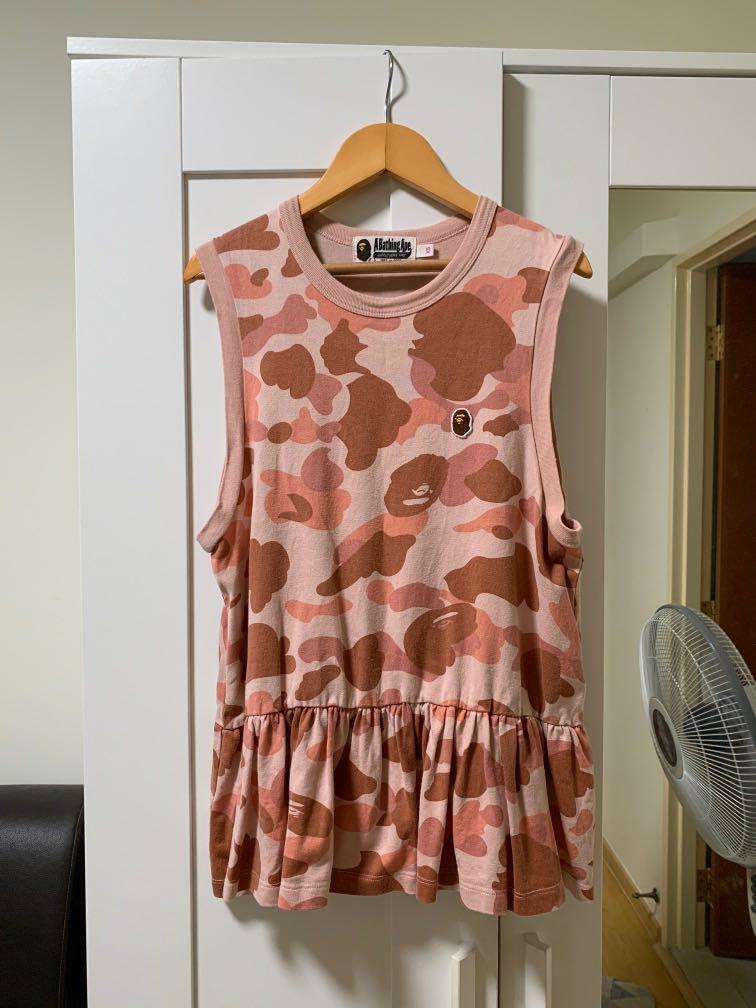 d0f46d7415437 100% Authentic BAPE Ladies Tank top in Pink Camo. Size XS., Women's ...