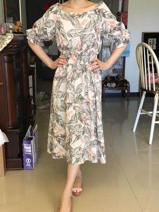 棉麻歐風長洋裝