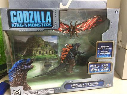 "Godzilla King of Monsters Battlepack featuring 3.5"" Godzilla Vs Mothra  - read full listing"