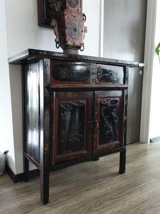 chinese antique old small cabinet console