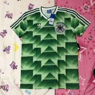 VINTAGE OFFICIAL ADIDAS GERMANY 1988 88/89 FOOTBALL SHIRT JERSEY BNWT NEW SMALL S RARE
