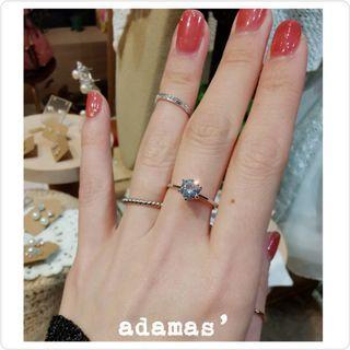包平郵 Adamas' 八心八箭水晶戒指