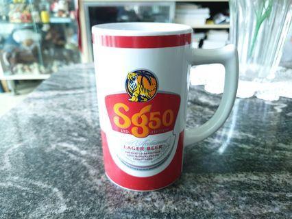 Vintage SG 50 tiger beer pocelin mug