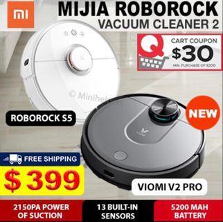 Robot vacuum cleaner Mijia roborock s5 and viomi v2 pro