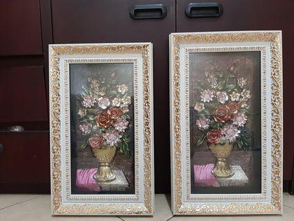 1 Set Pajangan Dinding - Bunga 3D