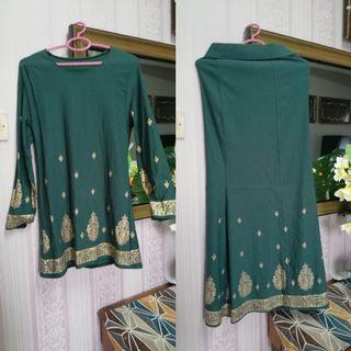 Baju kurung emerald green