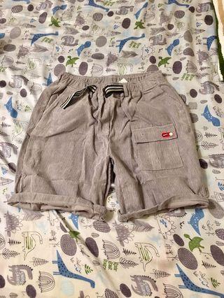 🚚 絨布口袋五分褲