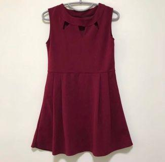 🚚 (20% off) Maroon Skater Dress