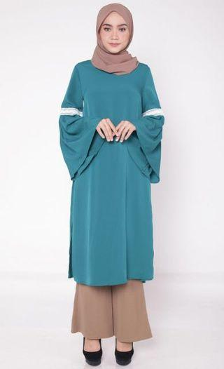 BN Lace Pleated Trumpet Tunic