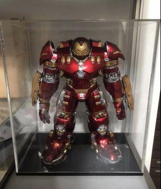 King arts 1/9 scale iron man hulkbuster with acrylic display case