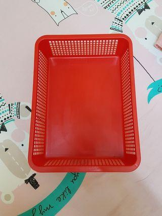 Red compartment box for drawer or on table #MGAG101