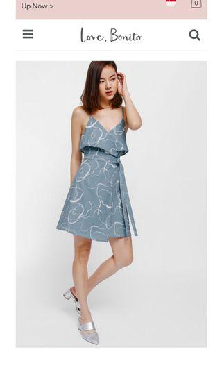 BNWT Love Bonito Deshley Printed Layered Sash Tie Dress