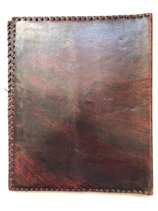 NEW Genuine Leather Dossier Pad