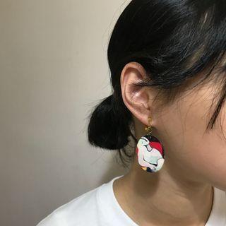 🚚 名畫耳環(夾式)