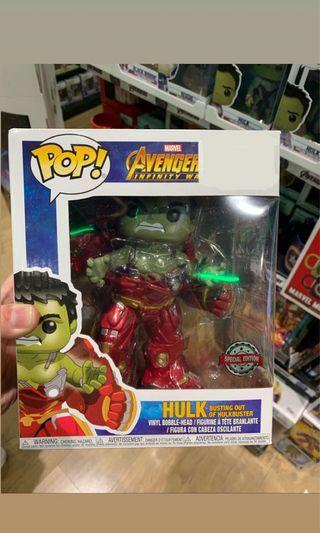 "FunkoPops Marvel Avengers ""Hulk busting out of Hulkbuster"""