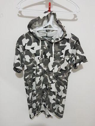 Kaos Hoodie Tee T-Shirt Camo
