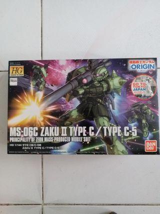 Bandai 2017 HG 1/144 MS-06C ZAKU II TYPE C / TYPE C-5  Principality of zeon mass-produced mobile suit