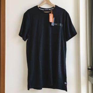 XXL極度乾燥superdry長版黑色純棉T恤/T shirt