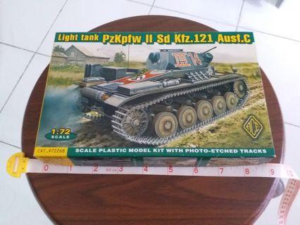 Scale 1:72 #72268 Light tank PzKpfw II Sd Kfz.121 Ausf.C