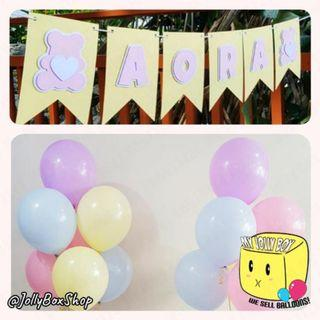 Bunting Banner with Helium Inflated Balloons Bundle #PartyBundle #HappyBirthday #HeliumBalloon #Partydecorations