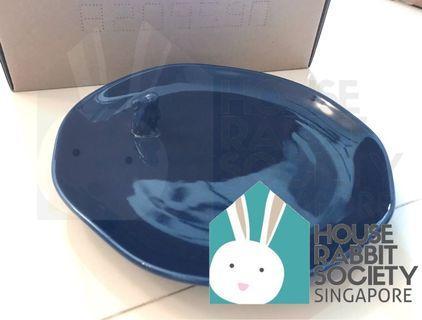 🚚 Blue Ceramic Plate with Rabbit