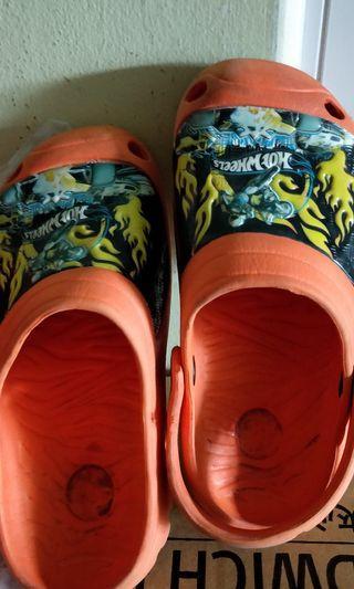 🚚 # Blessing Shoes - Hot wheel clog orange, size 31
