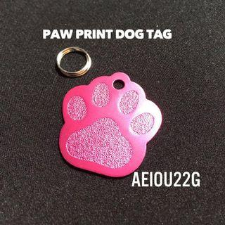 Paw Print Pet ID Dog Tag