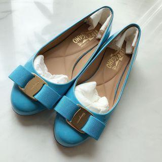 Salvatore Ferragamo shoes 湖藍色 US 4