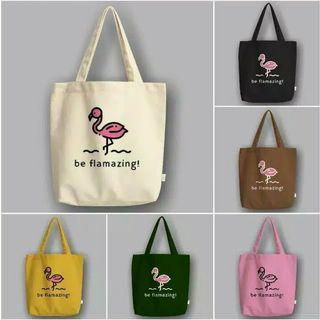 "CANVAS TOTE BAG ""BE FLAMAZING"""
