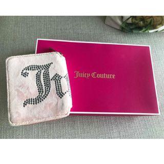 Juicy Couture Pink Bi fold zip around square wallet