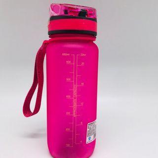 🚚 650ML BPA FREE One-Click Cap Water Bottle, Pink