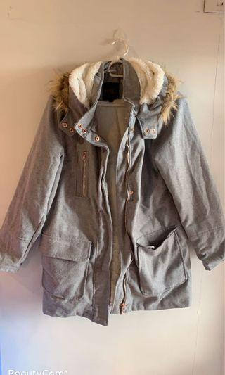 Thick  hooded winter coat