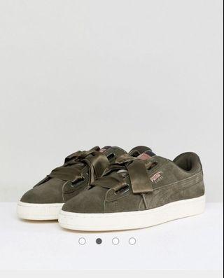 Puma khaki suede sneaker size 8