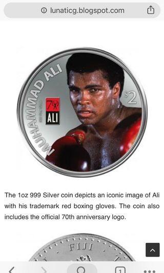 Silver Coin 999 Muhammad Ali