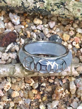 翡翠925純銀套裝戒指