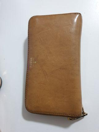 Fossil Authentic Long Wallet/ Wristlet