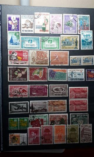 South Vietnam - Page of stamps