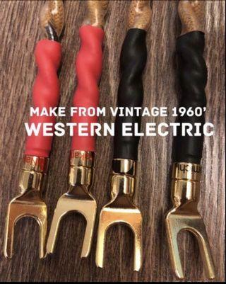 Speaker Jumper using Western Electric 16AWG Vintage 1960s' cable