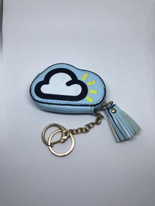 Cloud design coin purse with tassel