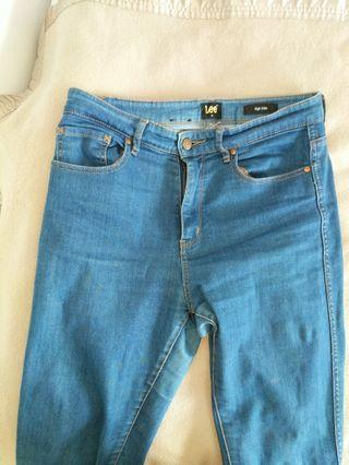 Lee Blue high waisted jeans