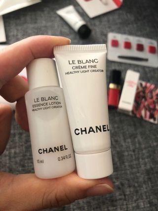 Chanel le Blanc essence lotion cream fine