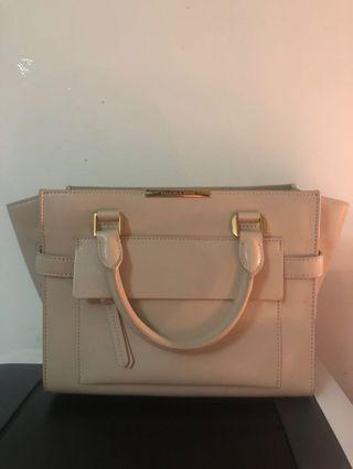 CHARLES AND KEITH Beige Bag