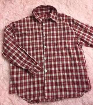 Red Checkered Flannel Shirt