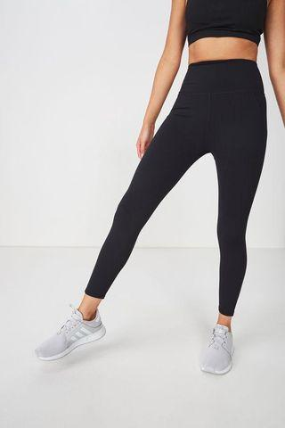 Sculpt black gym tights
