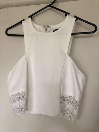 MISSGUIDED white cut out top