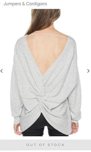 BARDOT knot back sweater