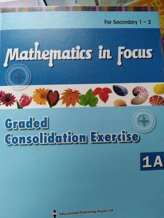 (100%全新)Mathematics in Focus Graded consolidation exercise 1A