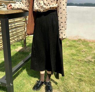 🚚 黑色針織半身裙 長裙
